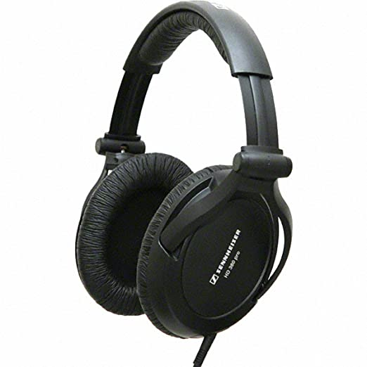 Sennheiser HD 380 Pro Collapsible High End Over-Ear Headset for Professional Monitoring Use Black