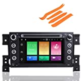 COROTC Compatible Android 8.0 2005-2012 Suzuki Grand Vitara Indash Car Stereo Radio Head Unit GPS Navigation System with DVD Player/Bluetooth/SD/USB/Radio/SWC/8 Core/4GB RAM/Map (Color: 2005-2012 SUZUKI Grand Vitara.)
