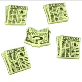 Litko Game Accessories Cthulhu, Rumor & Mystery Token Set, Ivory (5)