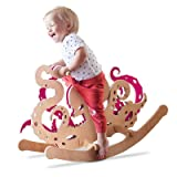 Linen Art Rocking Monsters Toys - Ride-On Animals for Kids - New Type of Wooden Rocking Horses (Octopus)