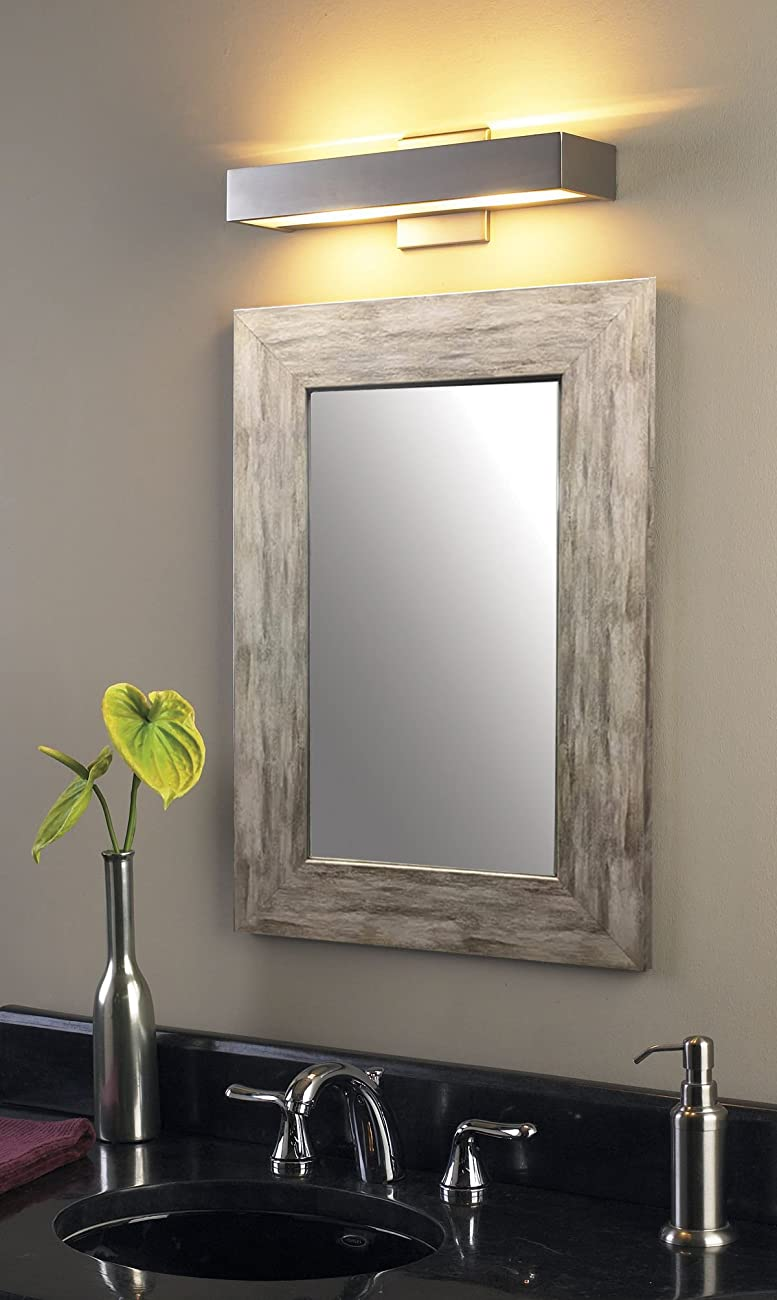 Raphael Rozen - Modern - Classic - Vintage - Hanging Framed Wall Mounted Mirror, Distressed Wood Finish, Gray - White Color 2