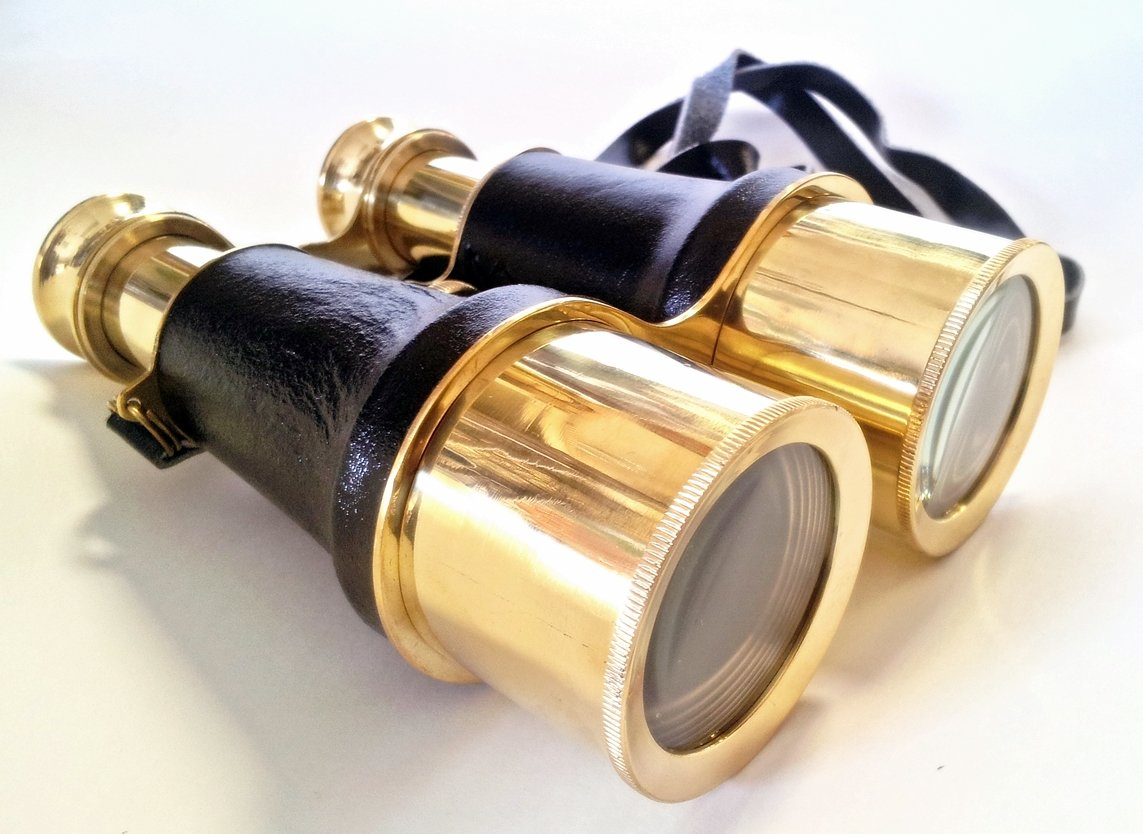 Brass Leather Binoculars 6