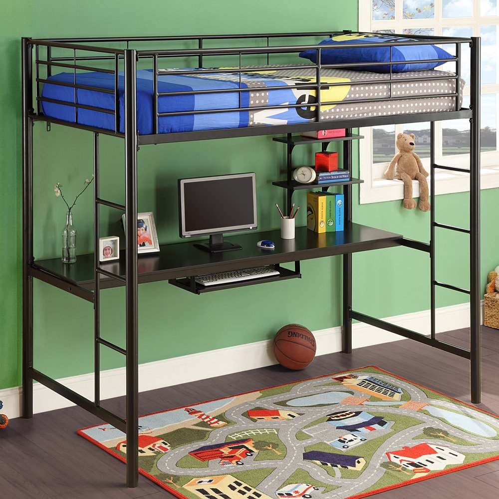 Loft Bunk Bed with Desk Underneath 1000 x 1000