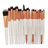 20 Pieces Makeup Brush Set, Staron Makeup Brushes Kit Foundation Face Eye Shadow Eyeliner Blush Lip Cosmetic Powder Cosmetics Blending Makeup Brush Tool (D)