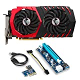 MSI VGA Graphic Cards Bundle 2 Items: RX 570 GAMING X 4G DDR5 7100 MHZ (OC Model) and Riser for Etheruem Zcash Cryptocurrency Mining