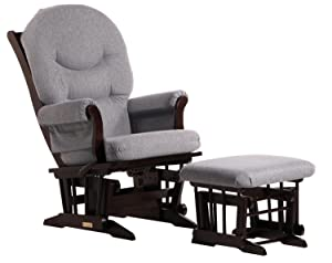 Dutailier Sleigh Glider-Multiposition, Recline and Ottoman Combo, Dark Grey