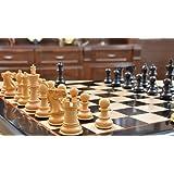 Ebony Wood Staunton Chess Set 4 Queens Matching Wooden Board