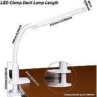Torchstar 24 LEDs Dimmable Flexible Gooseneck Clamp Desk Lamp (White)