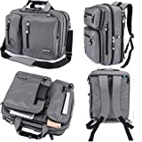 FreeBiz Laptop Bag 17 Inch Laptop Backpack Nylon Water-Resistant Briefcase with Handle and Shoulder Strap for 15.6-17.3 Inch Hp Dell Asus Msi Laptop Computer Notebook MacBook Chromebook( Grey)
