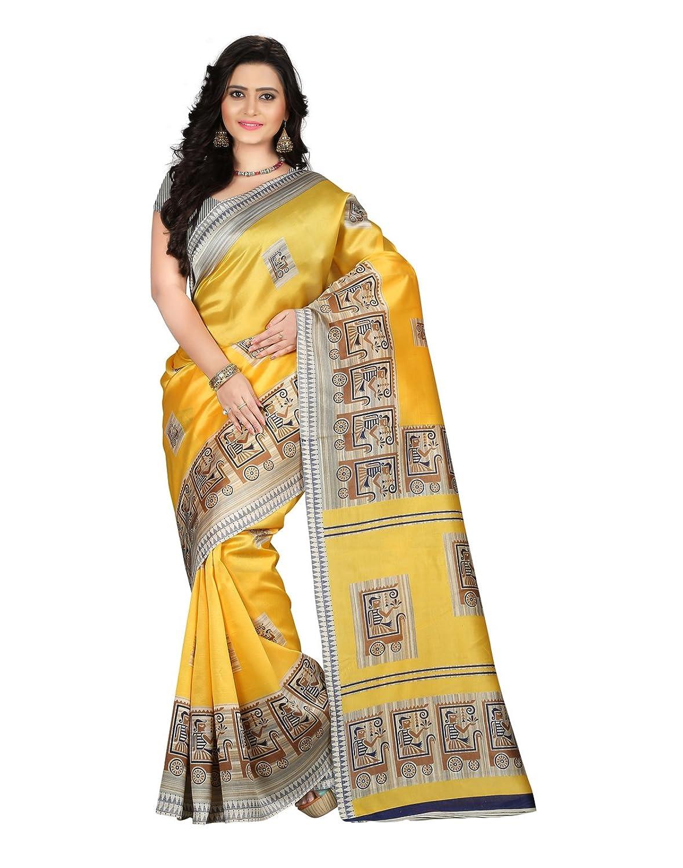 Womens Art Mysore Printed Silk