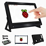 for Raspberry Pi 7 Inch Touchscreen LCD HDMI Input Display with 7'' Screen Case with Stand and Raspberry Pi 3 Model B+ Case (Color: 7 inch screen)