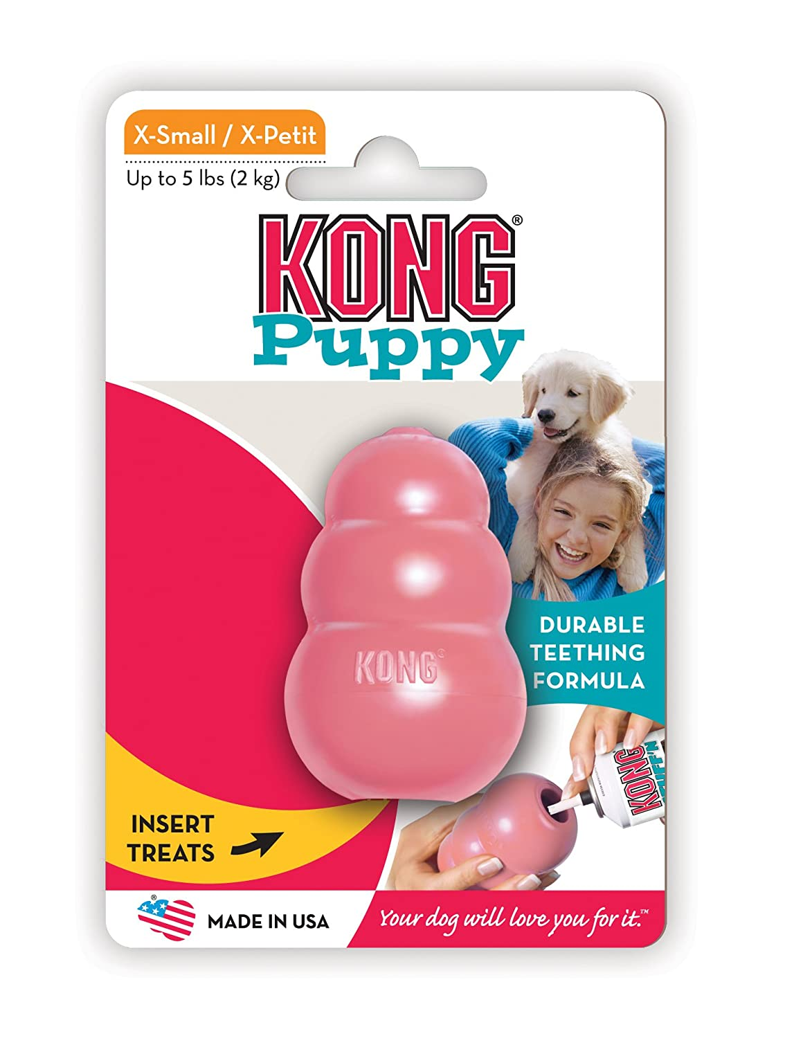 Toys For Teething : Kong puppy teething aid chew and treat toy durable rubber