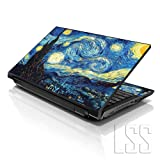 Laptop Skins (Color: Van Gogh Starry Night, Tamaño: 19 Inches)