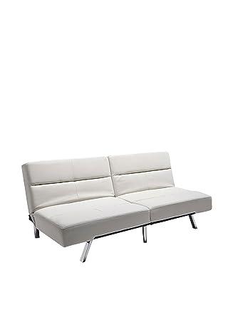 Wink design, Gulfport, creama divano letto in pelle eco panna