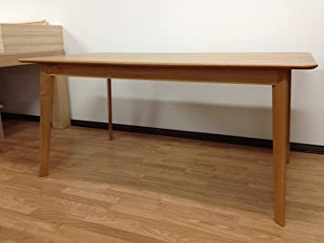 Table scandinave 1m80 - Chêne Français massif vernis