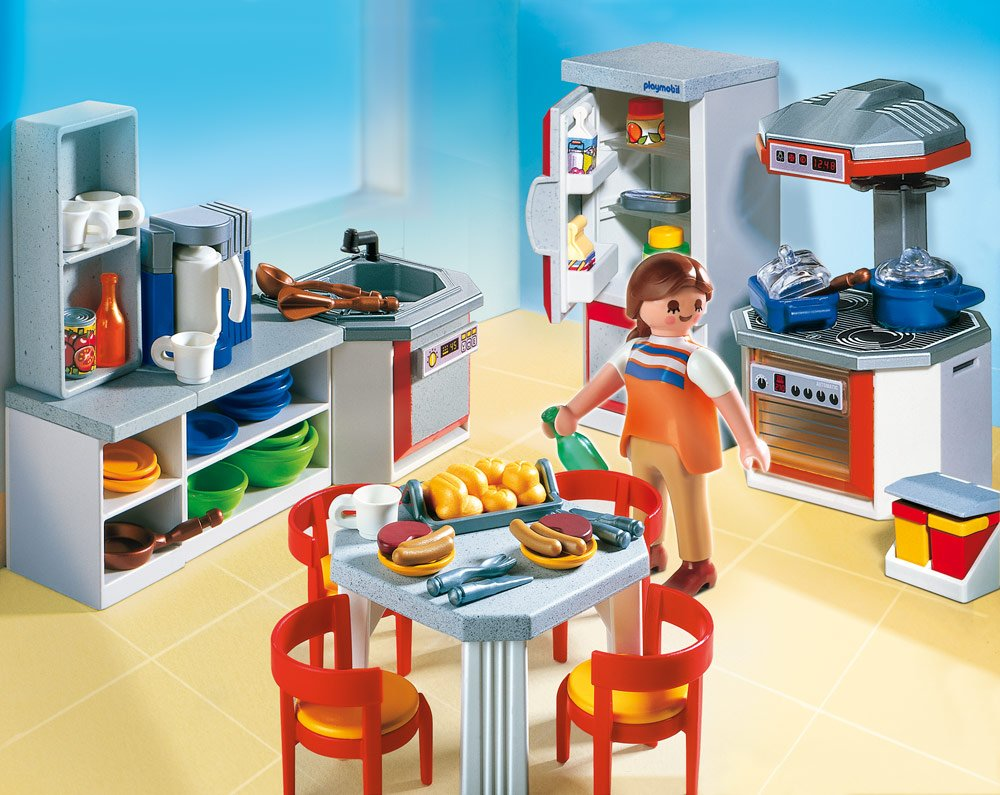 cuisine quip e playmobil 4283. Black Bedroom Furniture Sets. Home Design Ideas