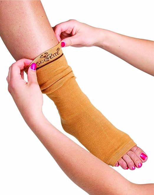 """SecureSleeves® Geri Skin Sleeves For Legs - Protects Sensitive Skin - One Pair - Small/Medium Brown - 17"""" x 3"""""""
