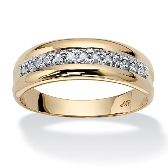 Palm Beach Jewelry - Men's 1/5 TCW Round Diamond Wedding Band in 10k Gold