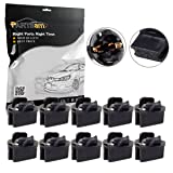 Partsam 10x T10 168 Twist Lock Wedge Instrument Panel Dash Light Gauge Cluster Bulbs Base Sockets (Color: sockets)