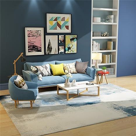 Alfombra de diseño Nórdico Moderno Simplicidad Resumen Alfombra de geometría de la personalidad Sala de estar Mesa de centro Sofá cama Alfombra de la cama con 7 tamaños y gris ( Tamaño : 160*230CM )