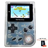 FLYFISH Handheld Game Console , Retro Game Console 2 Inch HD Screen 1219 Classic Games , Birthday Presents for Children (32 BIT Operate System,8G TF Card)- Transparent White (Color: Retro Mini Transparent White, Tamaño: MINI Retro)
