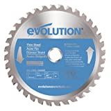 Evolution Power Tools 180BLADETS Thin Steel Cutting Blade, 7-Inch x 68-Tooth (Color: Blue, Tamaño: 7 Inch)
