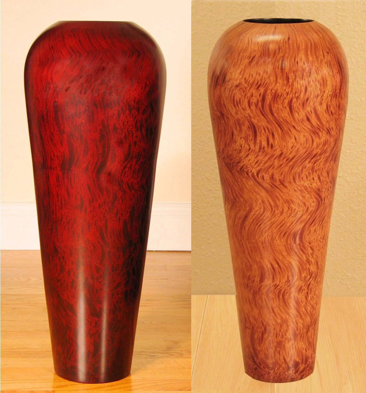Shopping The Globe Tall Mango Wood Floor Vase