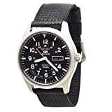 Seiko 5 Automatic Black Dial Mens Watch SNZG15J1 (Color: Black)