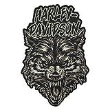Harley-Davidson Embroidered Night Wolf Emblem Patch, 2X 7.375 x 11 in. EM273806 (Color: Black, Tamaño: 7.375