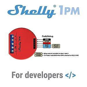 Shelly 1 One PM Smart Relay Switch WiFi Open Source Wireless