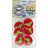 Button set DC Comics Originals Wonder Woman Logo Button (6-Piece), 1.25