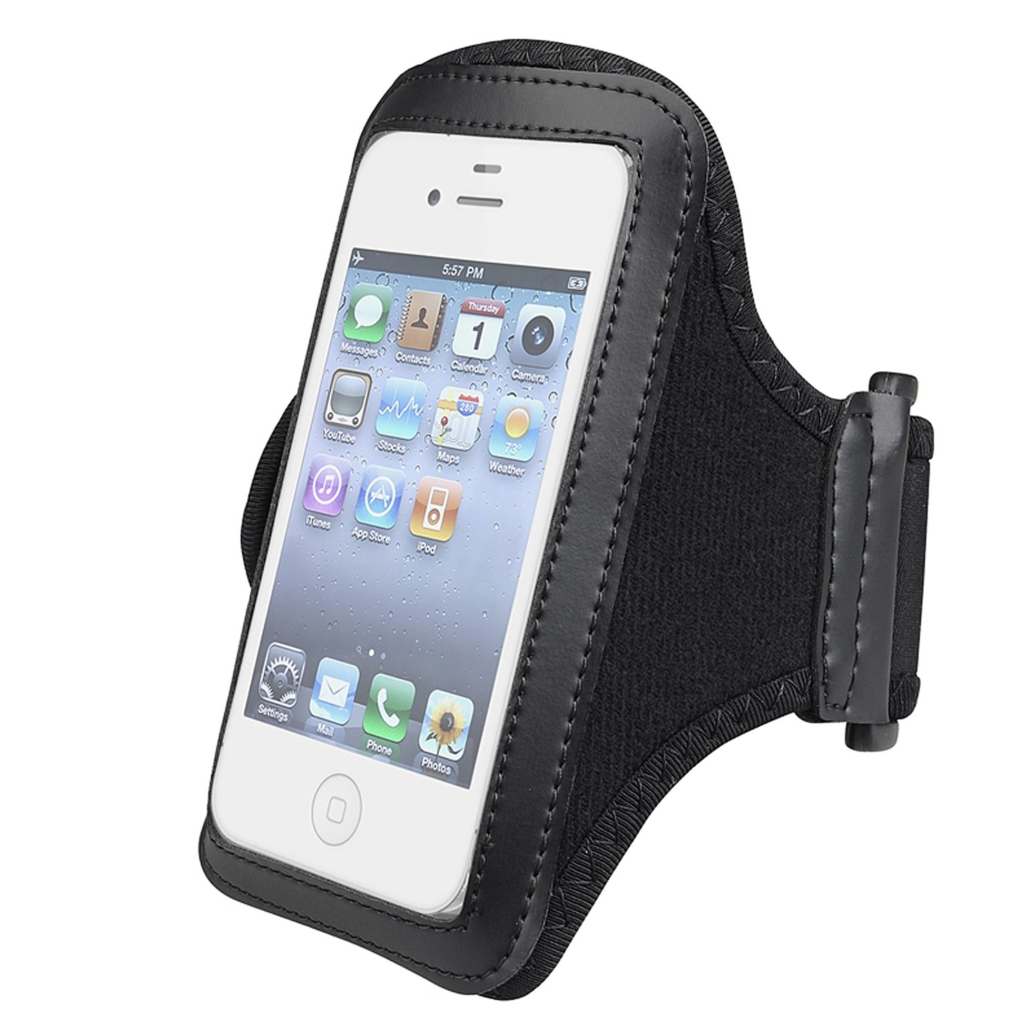 Phone holder for arm