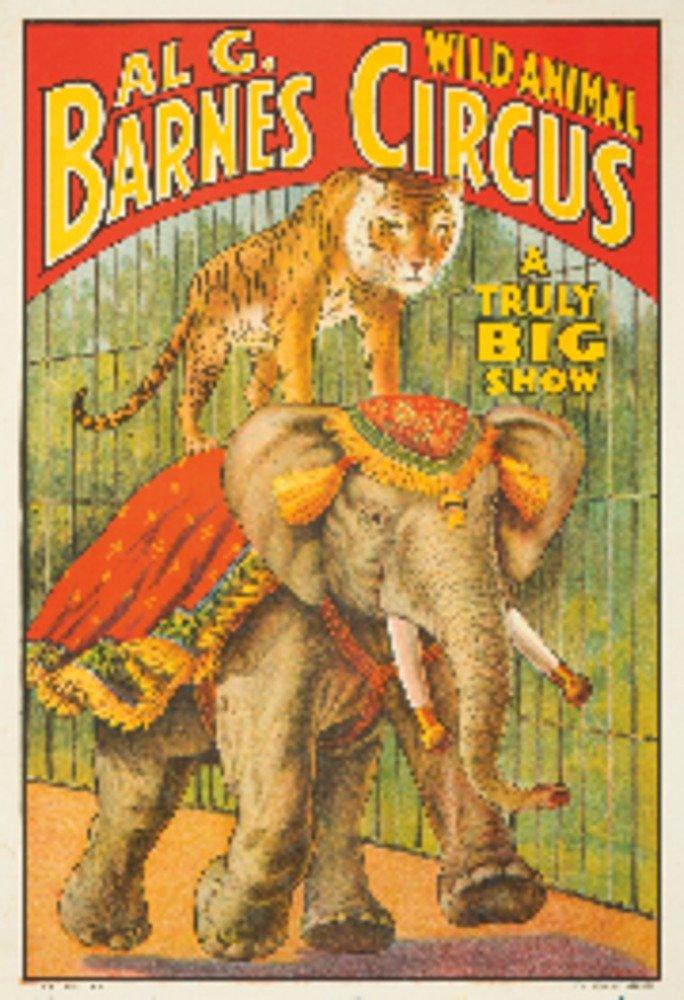 Al G Barnes Circus Vintage Poster USA (16x24 Giclee Gallery Print, Wall Decor Travel Poster) 0