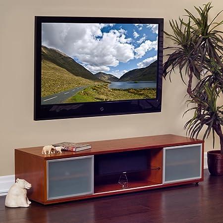 PLATEAU SR-V 75 Wood TV Stand, 75-Inch, Walnut Finish