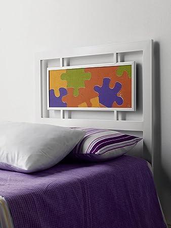 DECOARTESANAL-Cabecero forja Paris Puzzle,para cama 90cm
