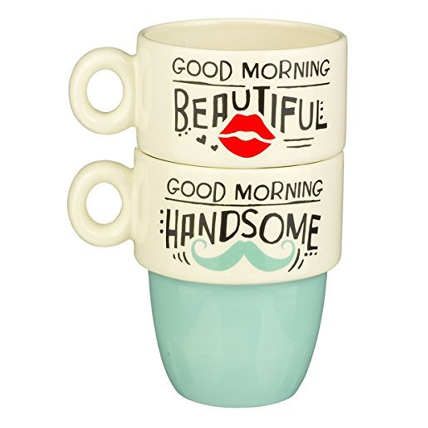 Good Morning All Email : Grasslands road quot good morning his hers stacked mugs