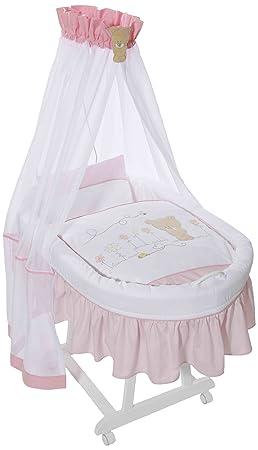 Easy Baby, Culla completa con ruote, include rivestimento esterno, materasso e supporto per baldacchino