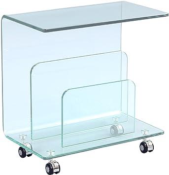 HomeTrends4You 535457 tavolino, vetro, vetro trasparente, 50 x 29 x 51 cm
