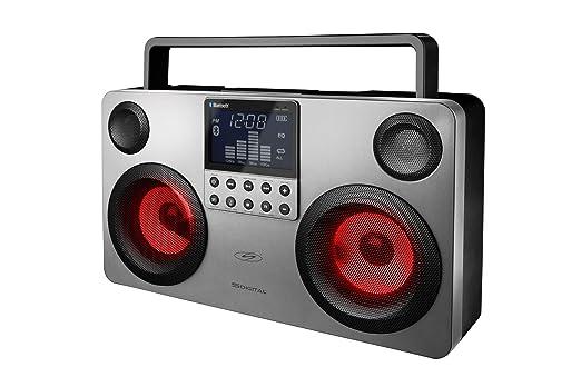 S -Digital - GB -3700 - Commando - Enceinte Portable Bluetooth - 4 haut -parleurs - Radio - MP3 - USB - SD - Rechargeable - 30 W