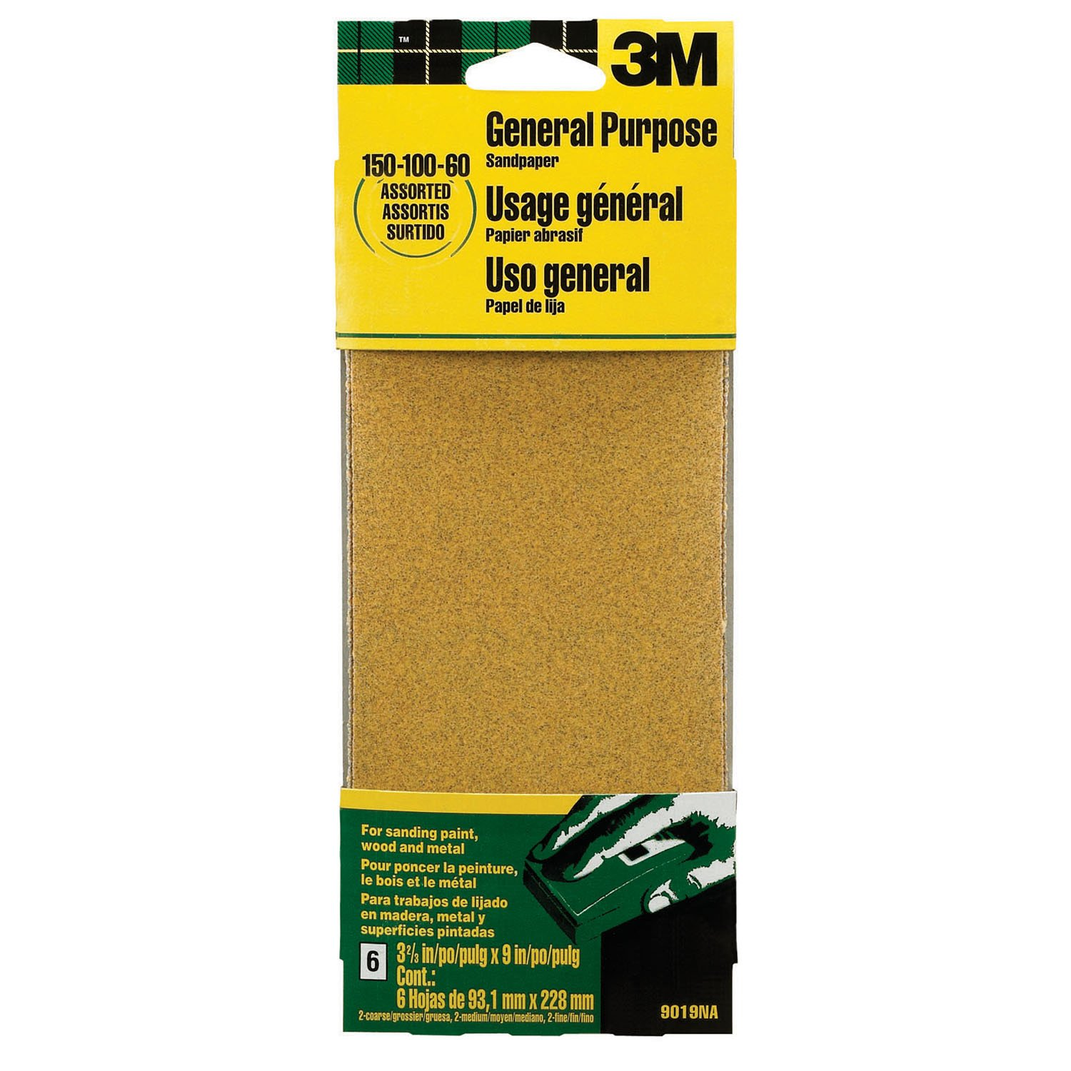 3M 9015 General Purpose Sandpaper Sheets 3m  234 30mmx55m  general purpose