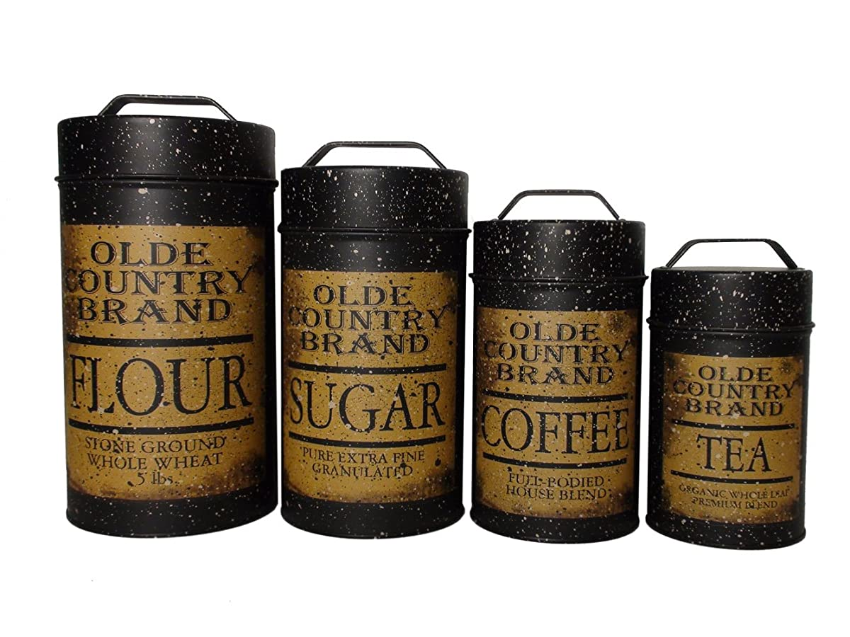 Olde Country Food Safe Canisters (Set of 4)