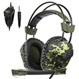 SA921Plus 3.5mm Wired Over Ear Stereo Gaming Headset Headband Headphones with Mic 50mm HiFi Speakers Noise Reduction for PC/ MAC/ PS4/ PSP/ Playstation Vita/ 3DS/ Switch/ Mobile Phones/ Tablets (Color: SA921Plus Green)