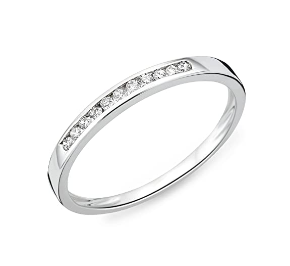 Miore 18 ct White Gold Eternity Ring with Diamonds