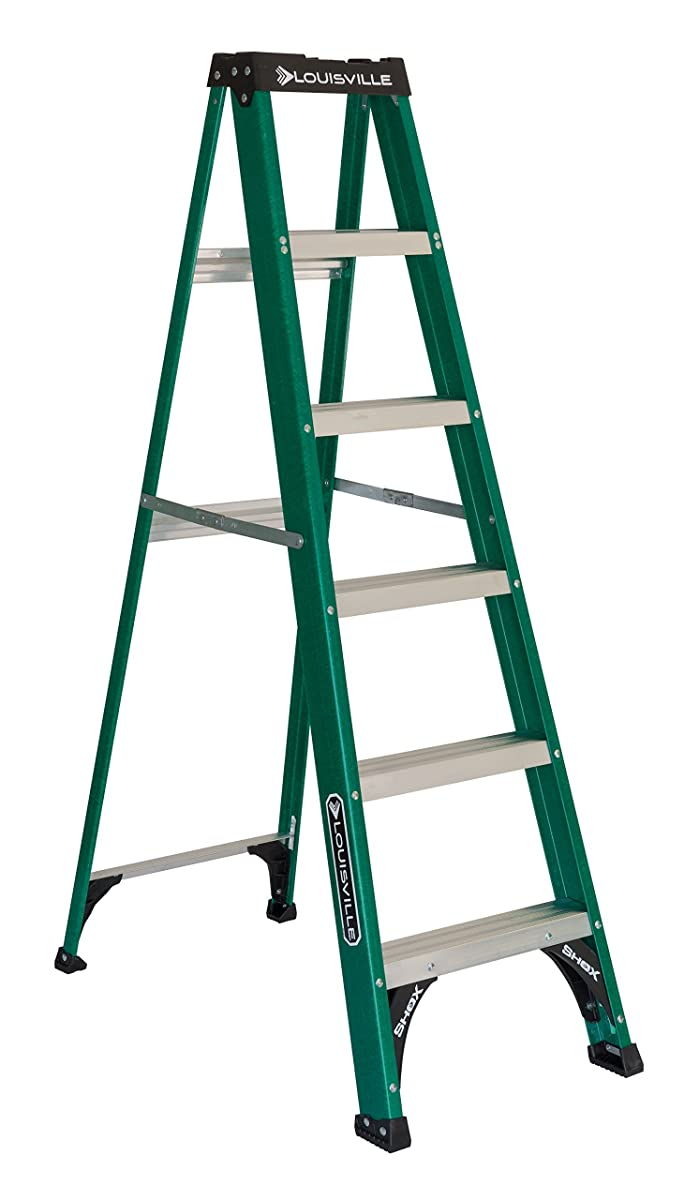 Louisville Ladder FS4006 225-Pound 6-Foot Fiberglass Step Ladder
