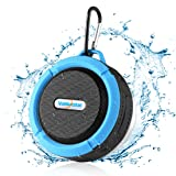 Bluetooth Speakers, Vanleestar Portable Wireless Waterproof Speaker With 5W Driver Enhanced Bass and HD Sound with Suction Cup Built-in Mic and TF Car