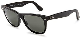 Ray-Ban RB2140 Original Wayfarer Sunglasses 50 mm,Black frame/Crystal Green Polarized lens: Ray-Ban
