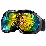 Zdatt Double Lens Youth ATV Goggles Helmet Motorcycle Dirtbike Off Road Goggle UV Protection Kids Ski Goggles (Black) (Color: Kids-black, Tamaño: Black)