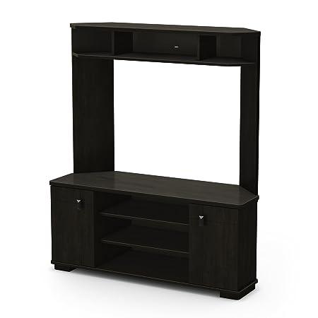 South Shore Vertex Collection Corner TV Stand, Ebony