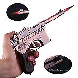 FengFang Windproof Lighter Mauser Gun Metal lightermetal Model Reusable Inflatable Butane Cigar Lighter (Color: gunmetal)