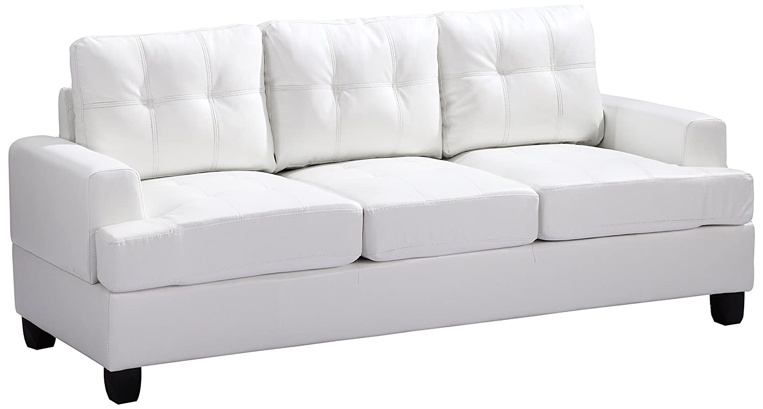 Glory Furniture G587A-S Living Room Sofa - White